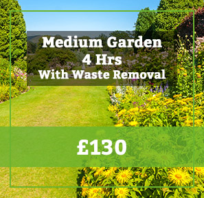 medium garden with waste removal