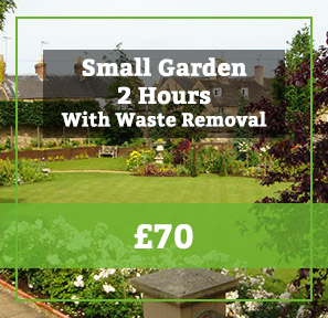 small garden with waste removal